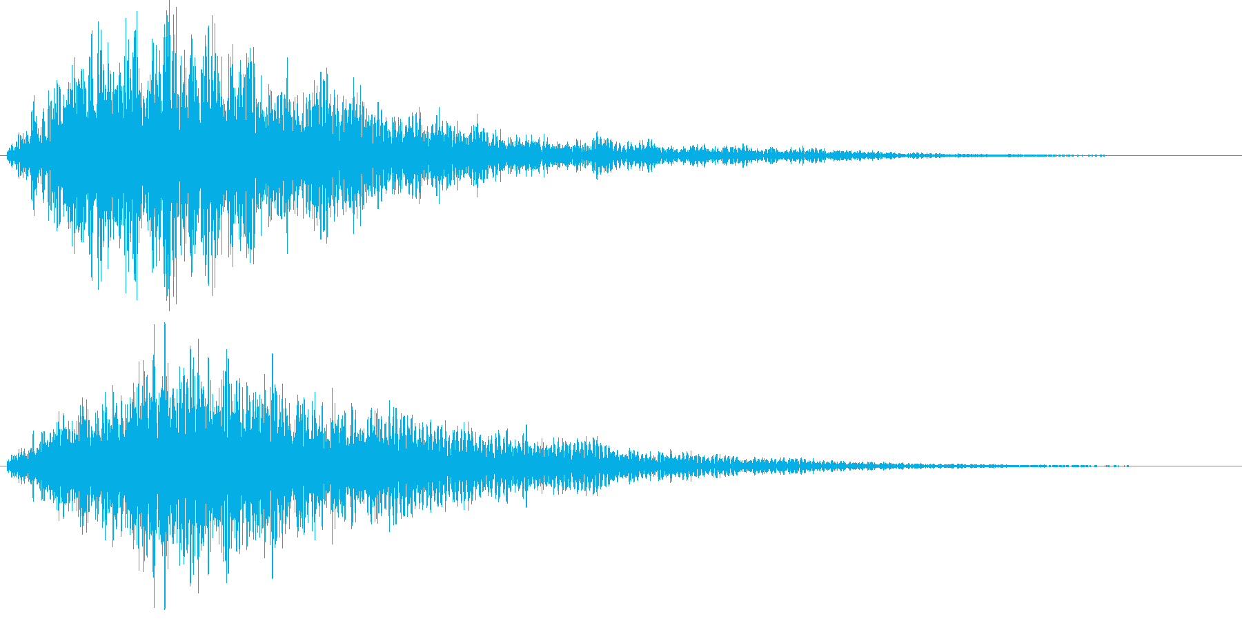 不気味、不穏な音2の再生済みの波形