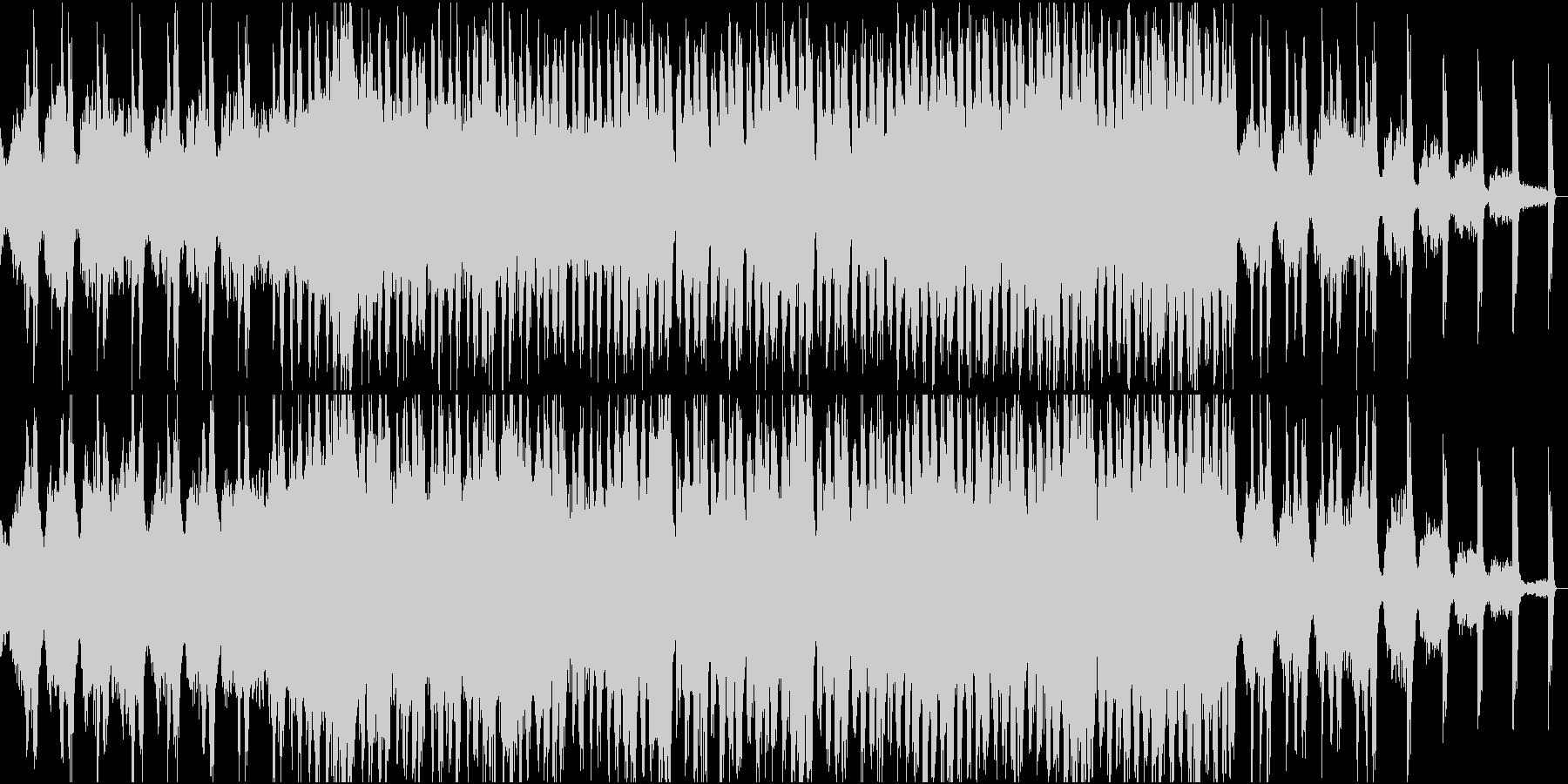 何かの予兆を感じさせるBGMの未再生の波形