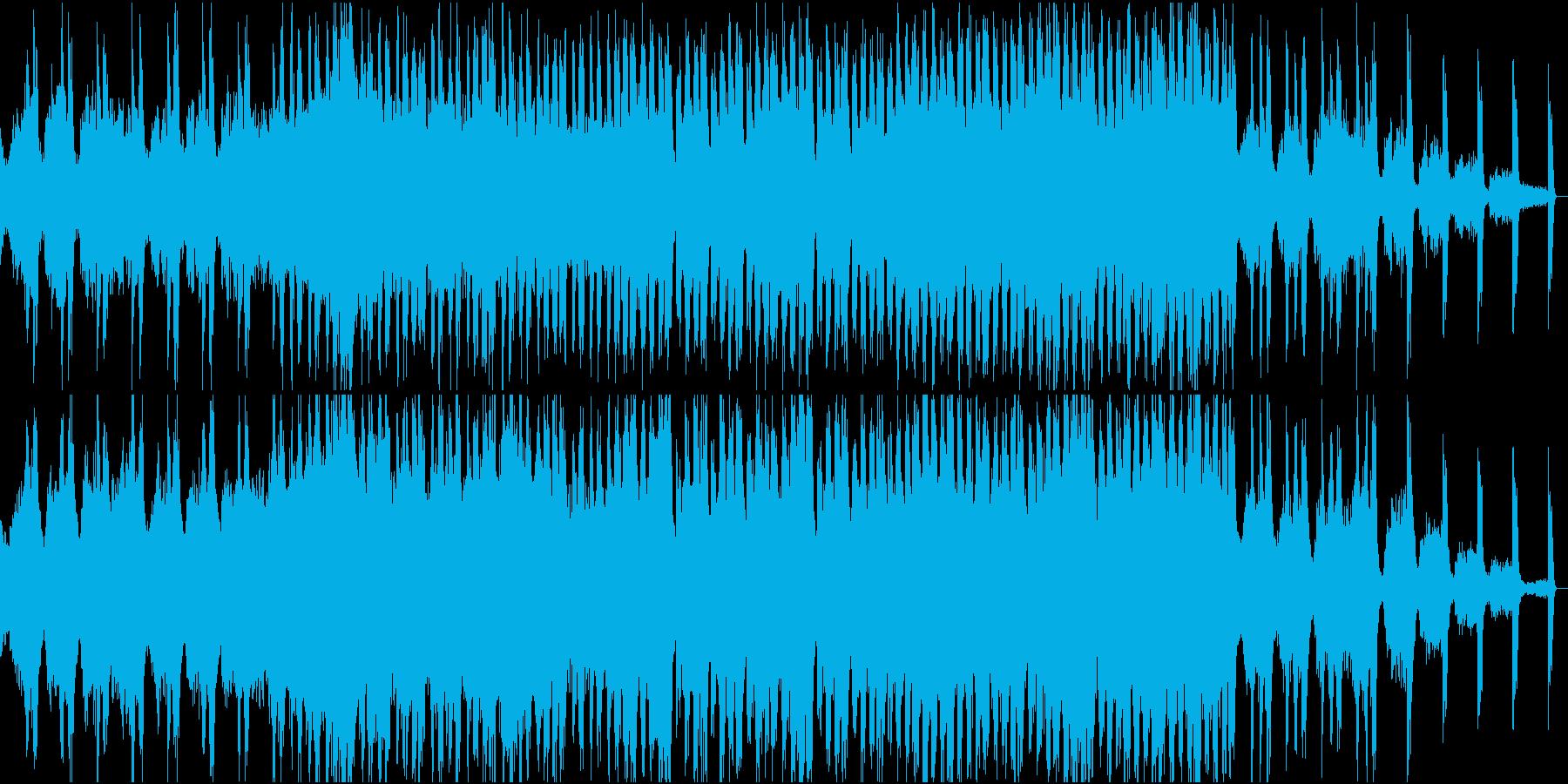 何かの予兆を感じさせるBGMの再生済みの波形