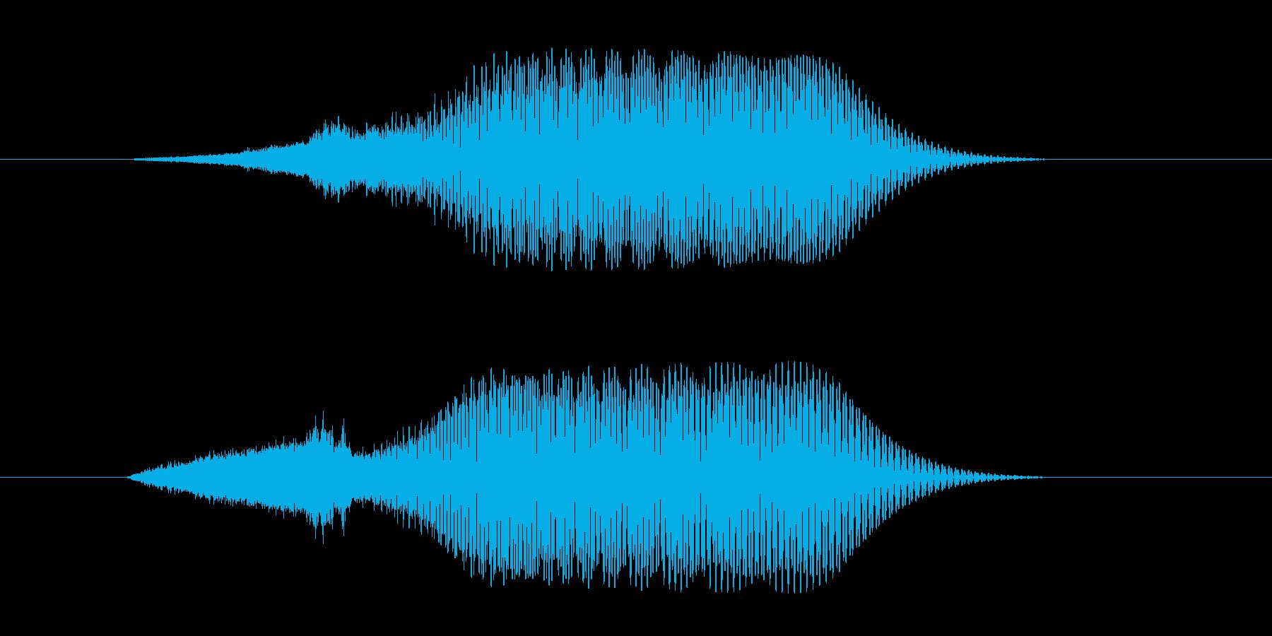 ハリウッドSF_流行_低音_ブーン_01の再生済みの波形