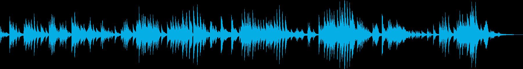 静かでありながらドラマチックなピアノソロの再生済みの波形