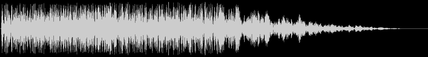 ブーン(プロペラ付き飛行物体の通過音)の未再生の波形