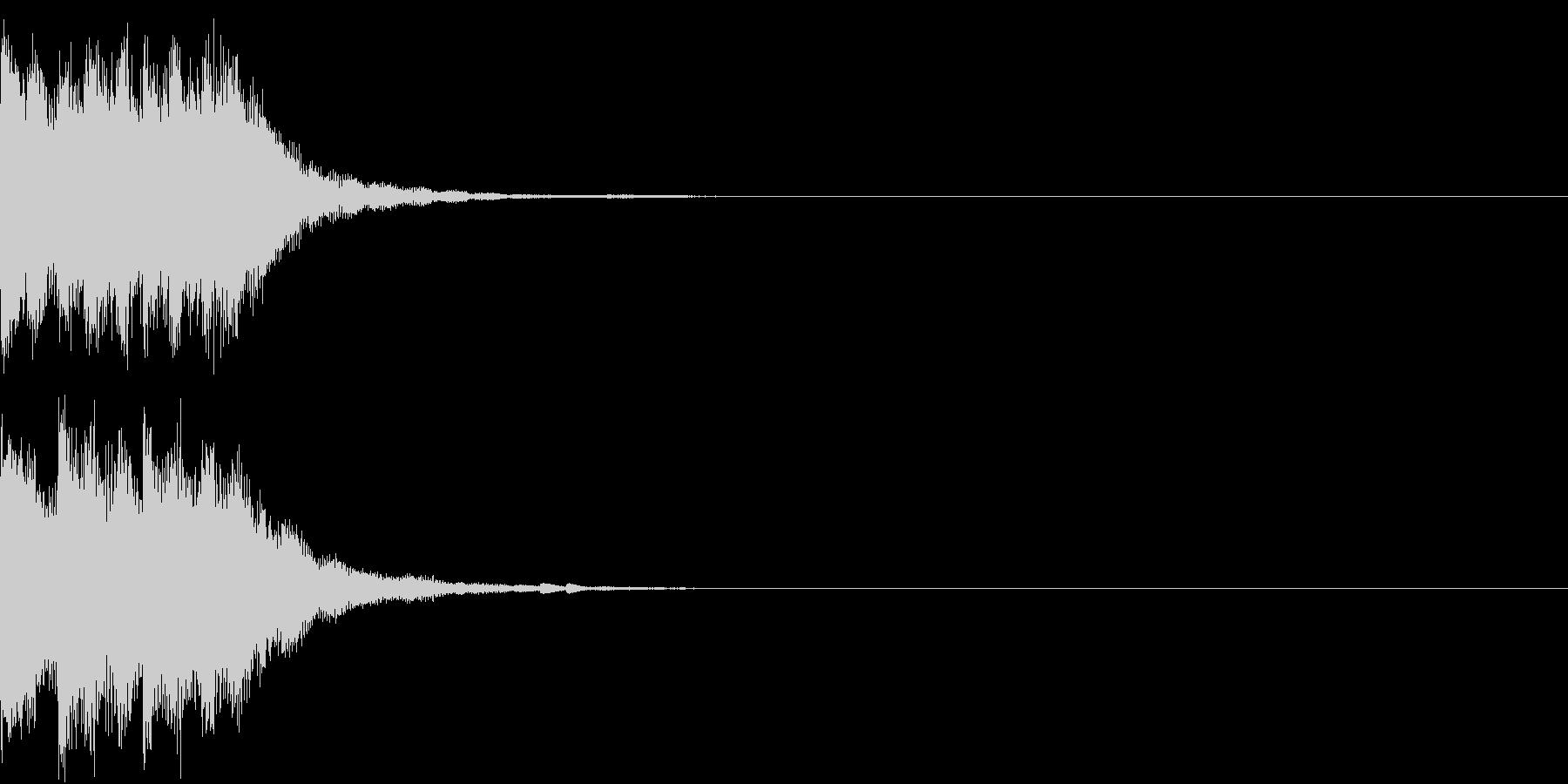 アップ チャラン 上がる 変身 変化 3の未再生の波形
