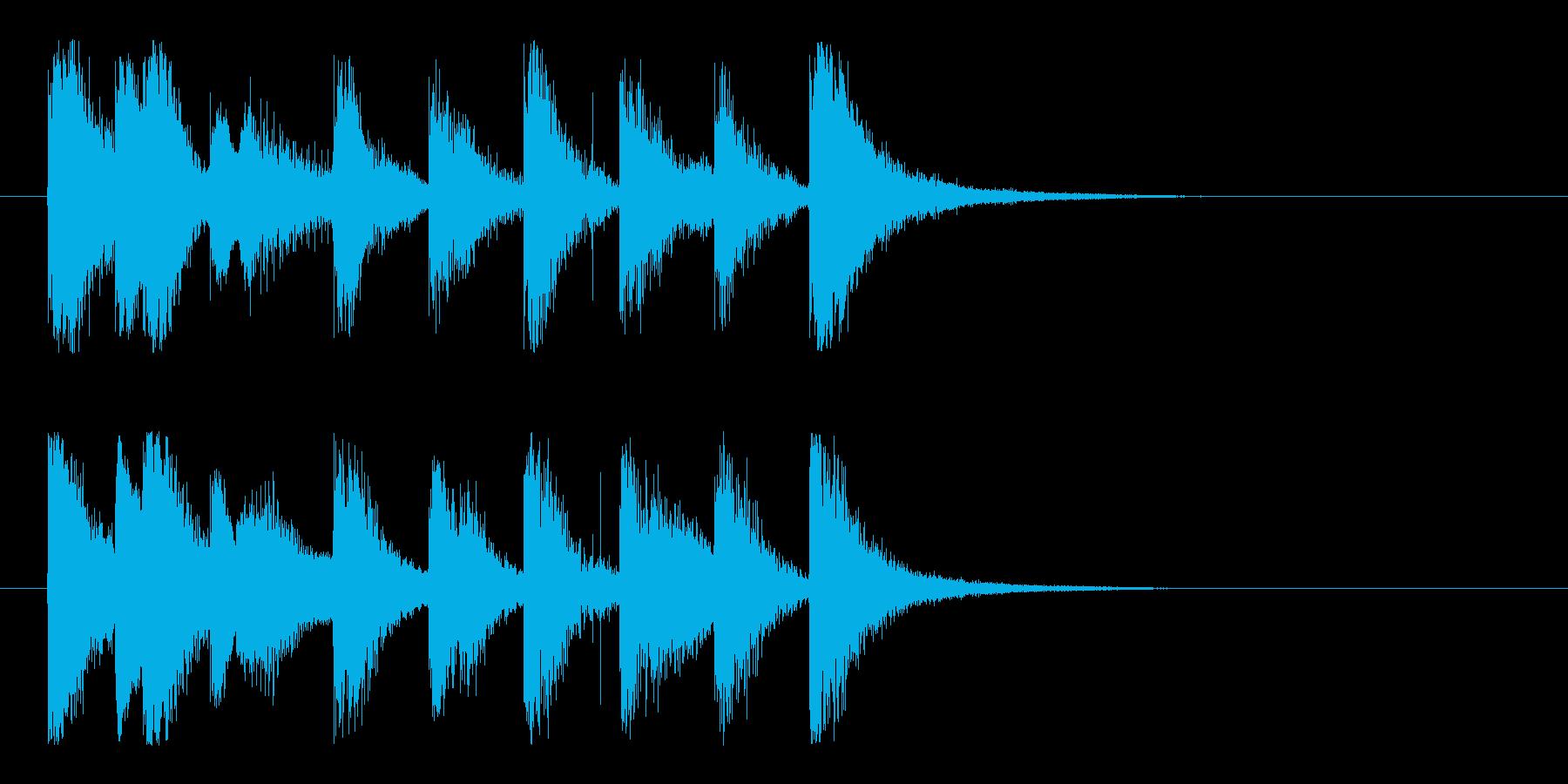 明るく飛び跳ねる愉快なポップな5秒ロゴ♪の再生済みの波形