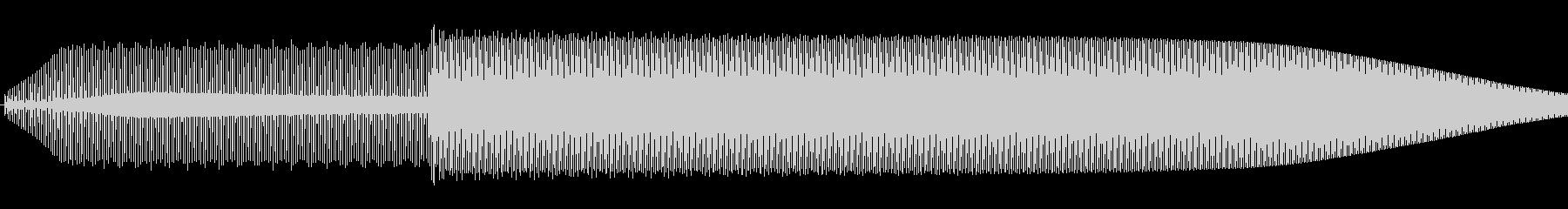 シンプルな決定音の未再生の波形