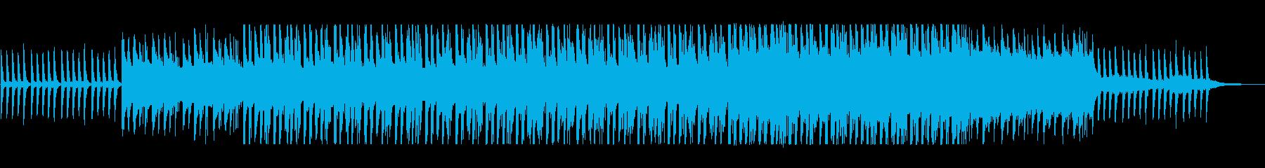 ゆっくりした新鮮さのあるヒーリングの曲の再生済みの波形