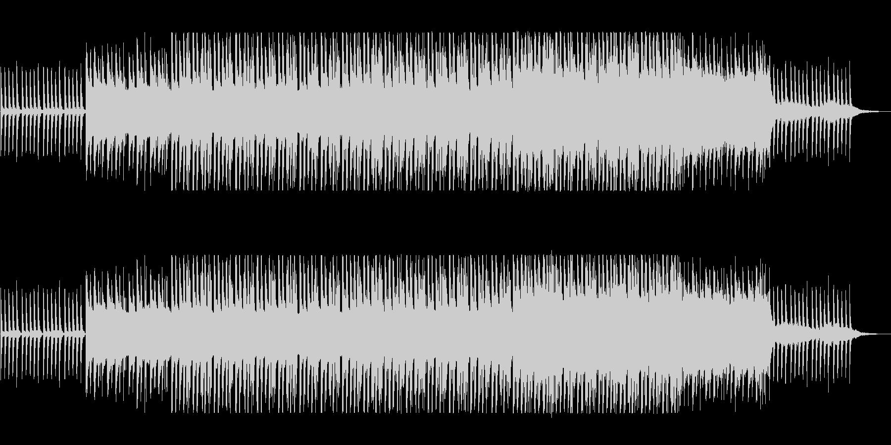 ゆっくりした新鮮さのあるヒーリングの曲の未再生の波形