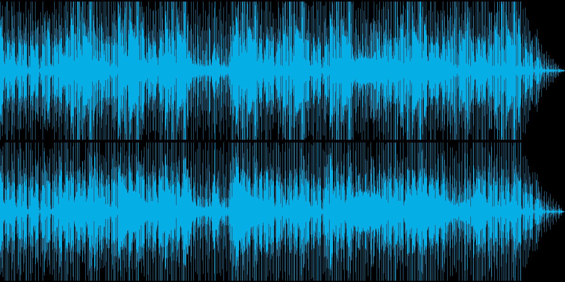 暗めで無機質・緊迫感のあるBGMの再生済みの波形