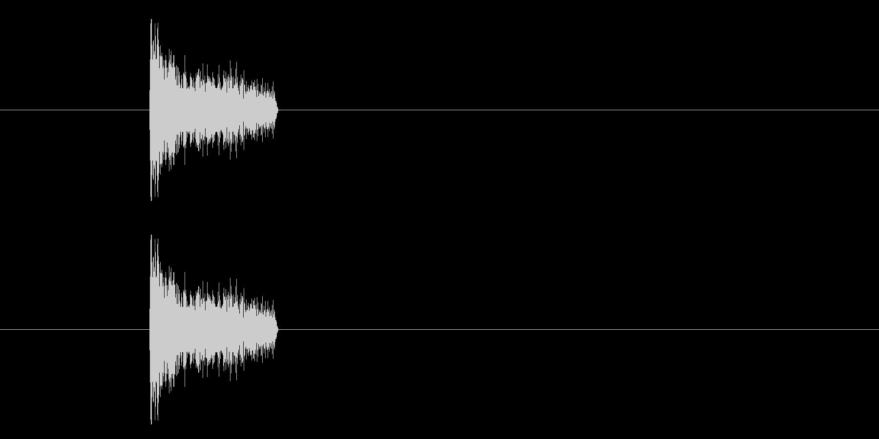 ジャン!懐かしのオケヒその1_音程高めの未再生の波形
