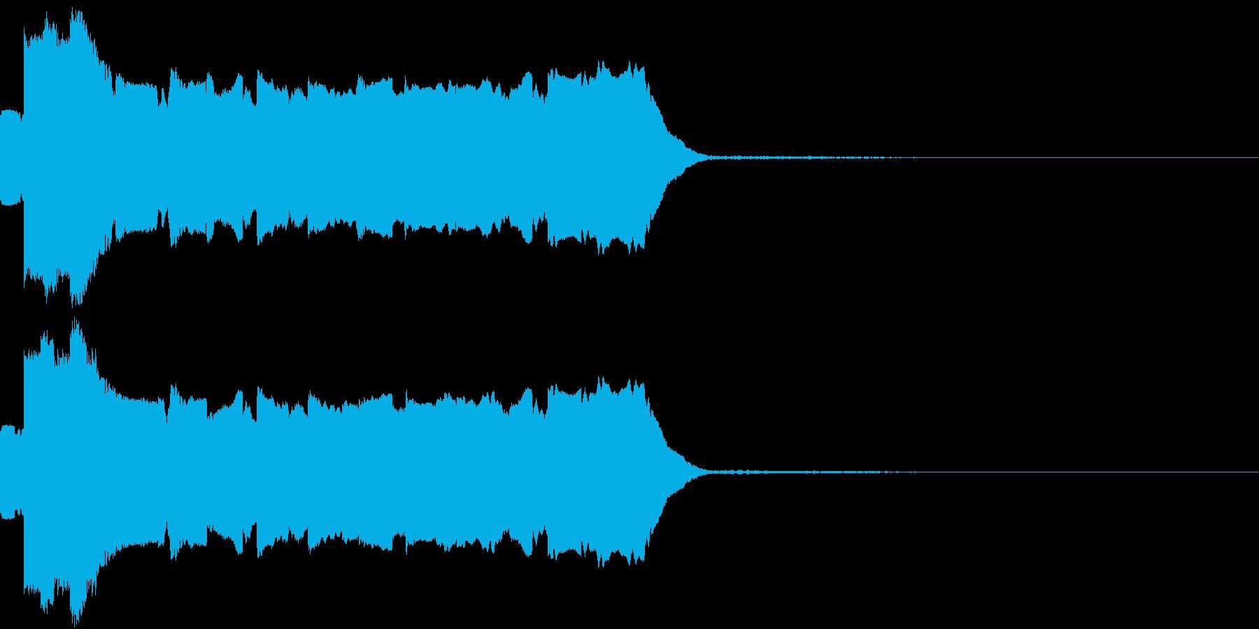 落下 落ちる ヒュルル キュルル ヒュンの再生済みの波形