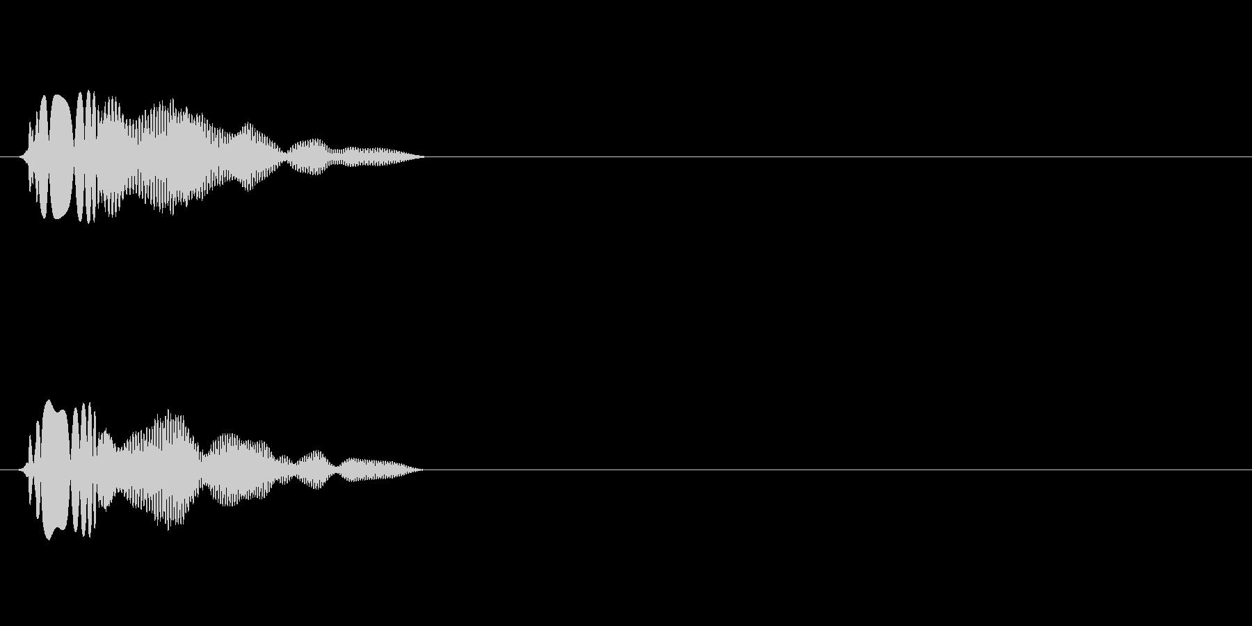 アイテム取得効果音(ビュアーン)の未再生の波形
