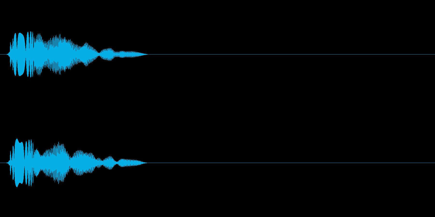 アイテム取得効果音(ビュアーン)の再生済みの波形