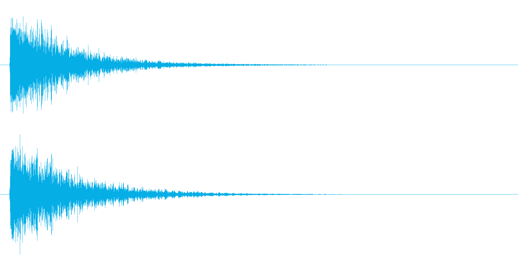 オリジナルの効果音_打撃音の再生済みの波形