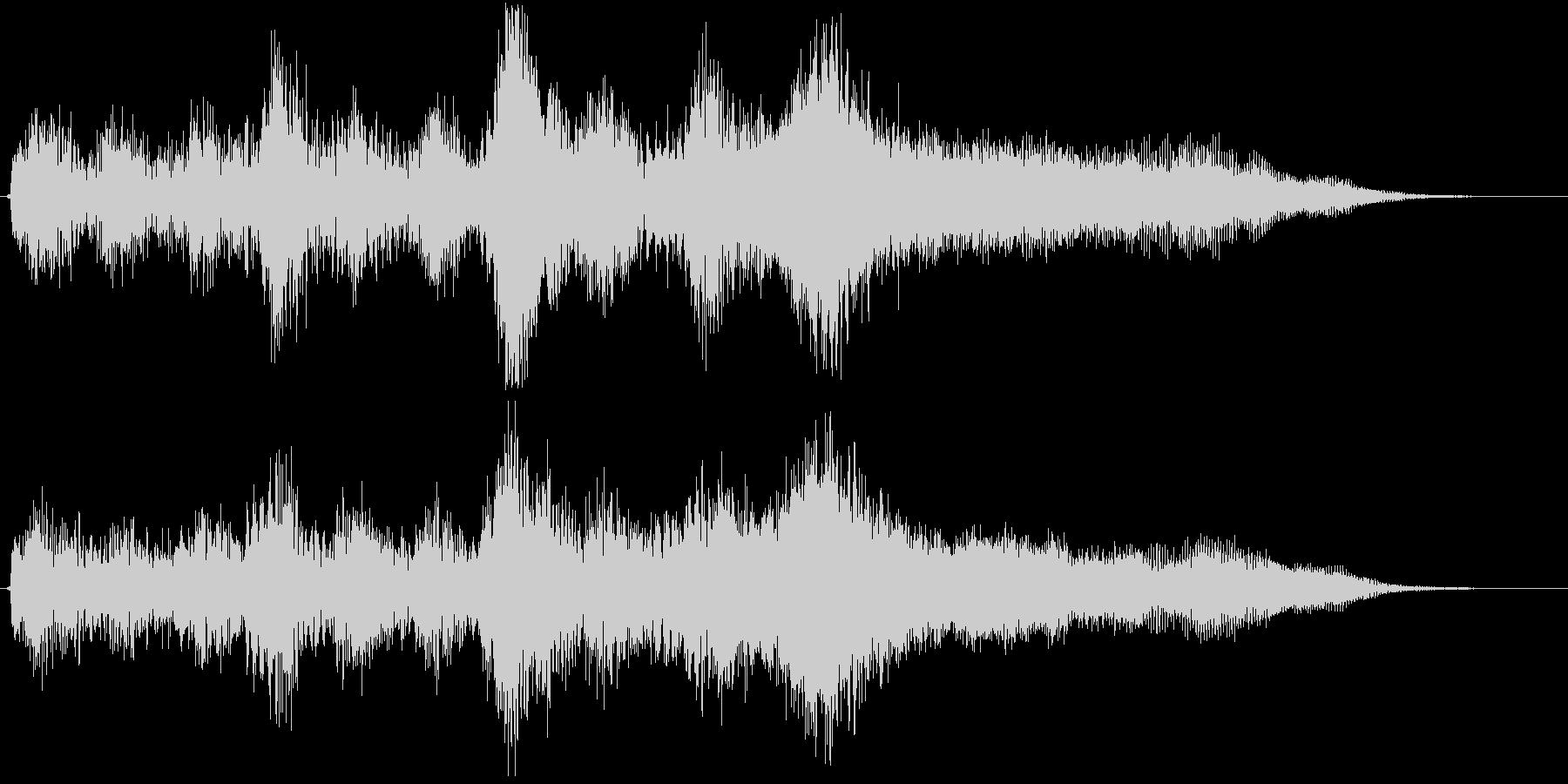 壮大なオーケストラBGMの未再生の波形