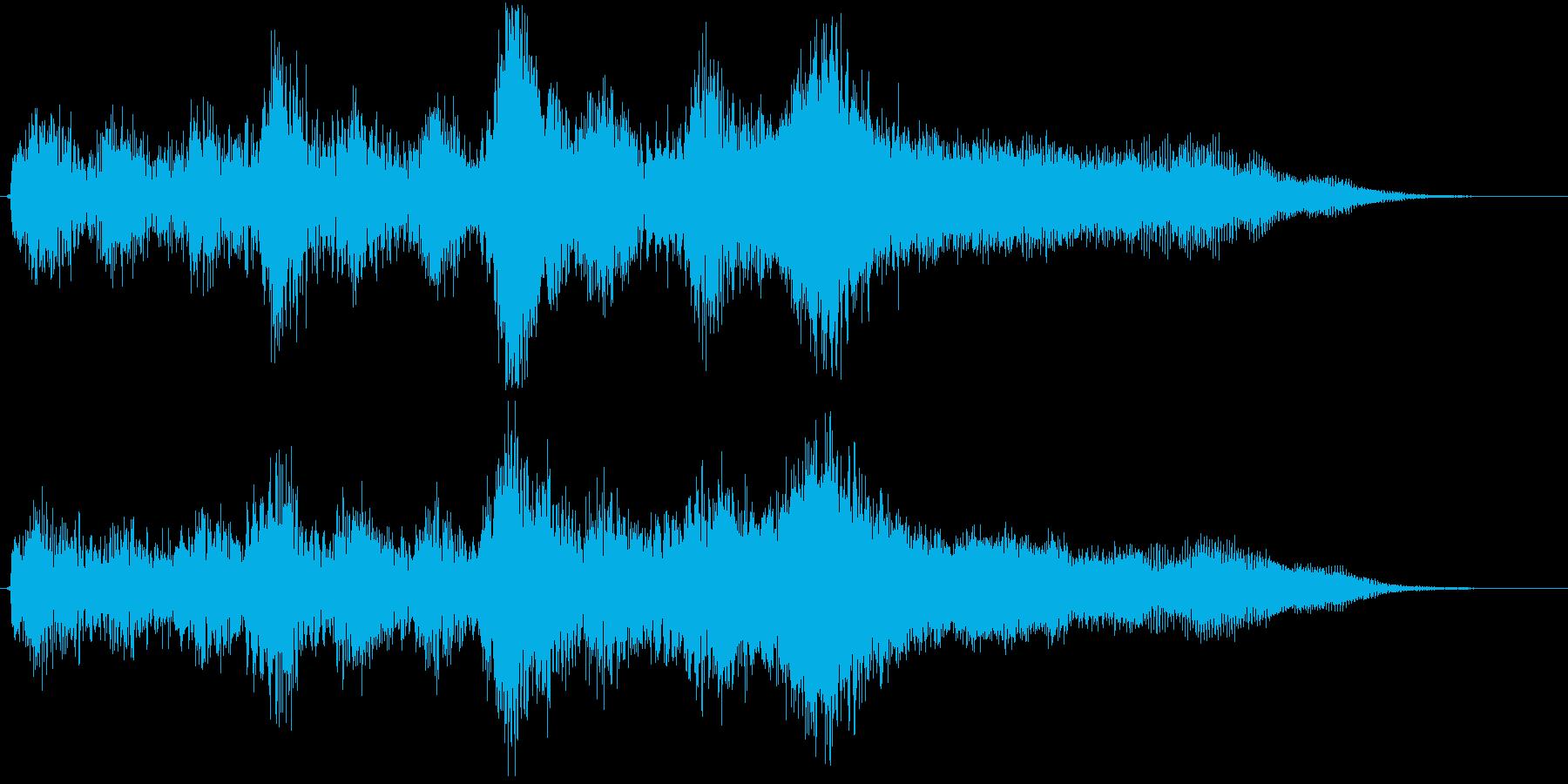 壮大なオーケストラBGMの再生済みの波形