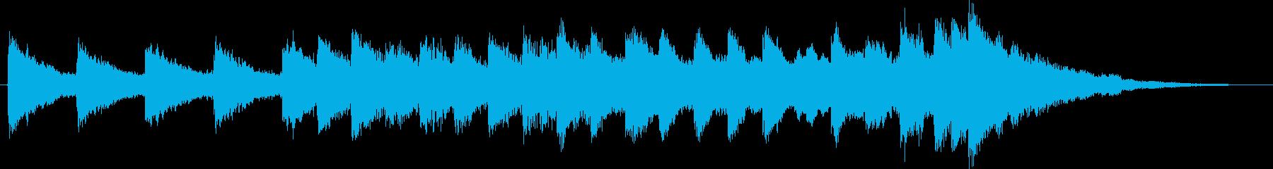 時計をイメージしたチャイムの再生済みの波形