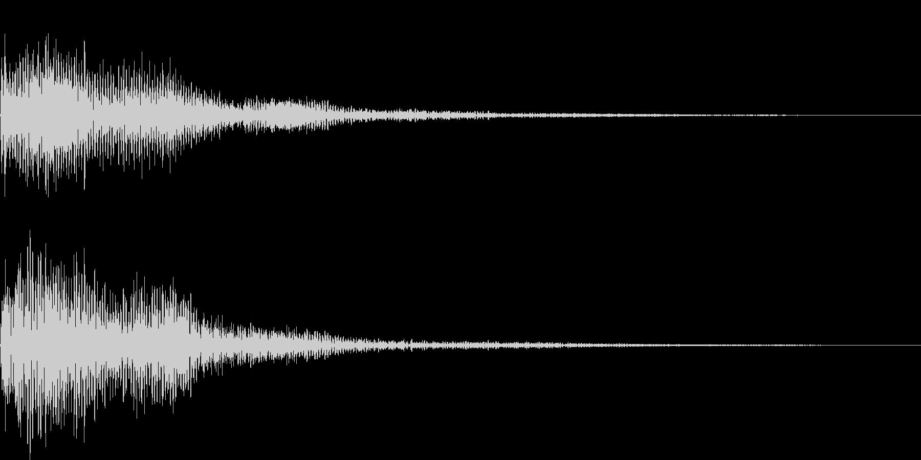 ポロローン(表示、キャンセル、ガムラン)の未再生の波形