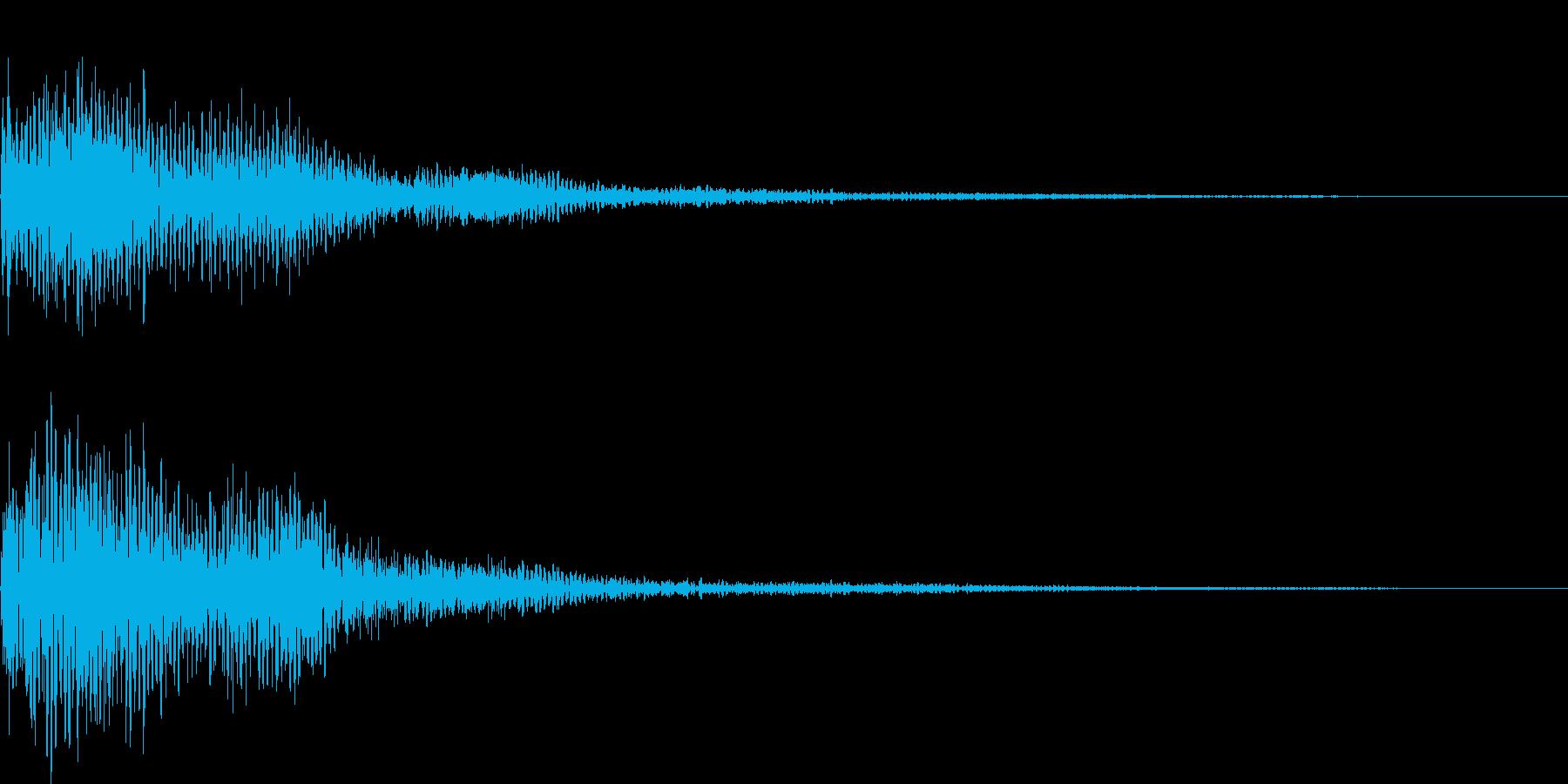 ポロローン(表示、キャンセル、ガムラン)の再生済みの波形
