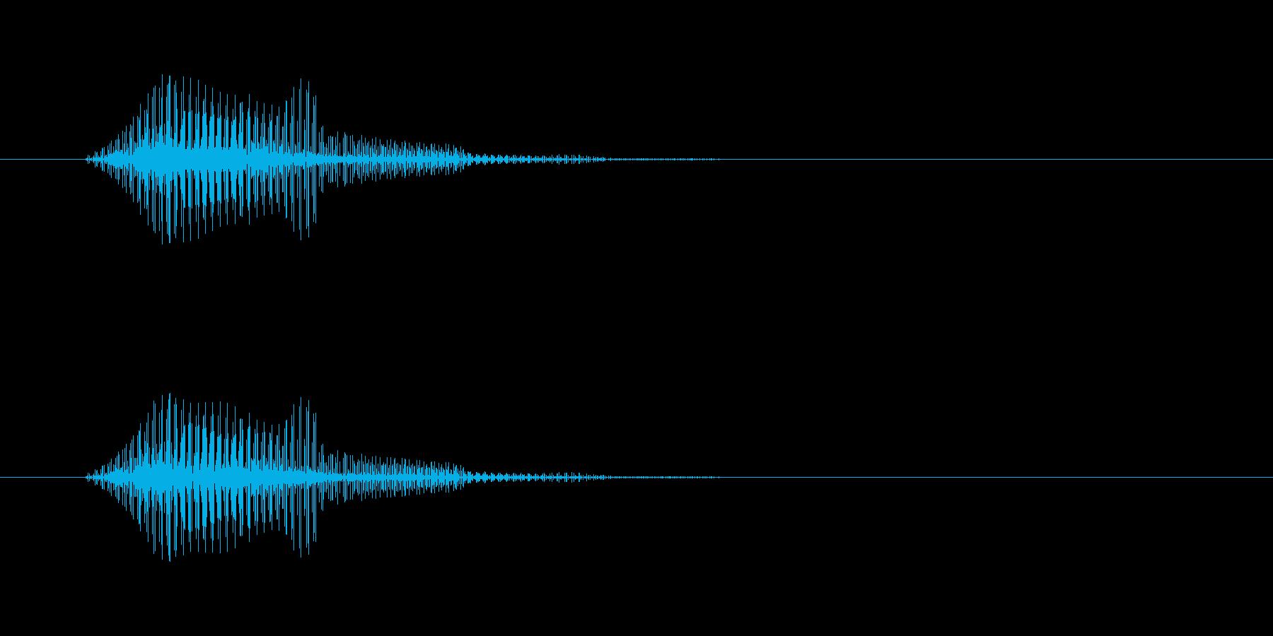 電子音,ブゥンブーン,通過,振る の再生済みの波形