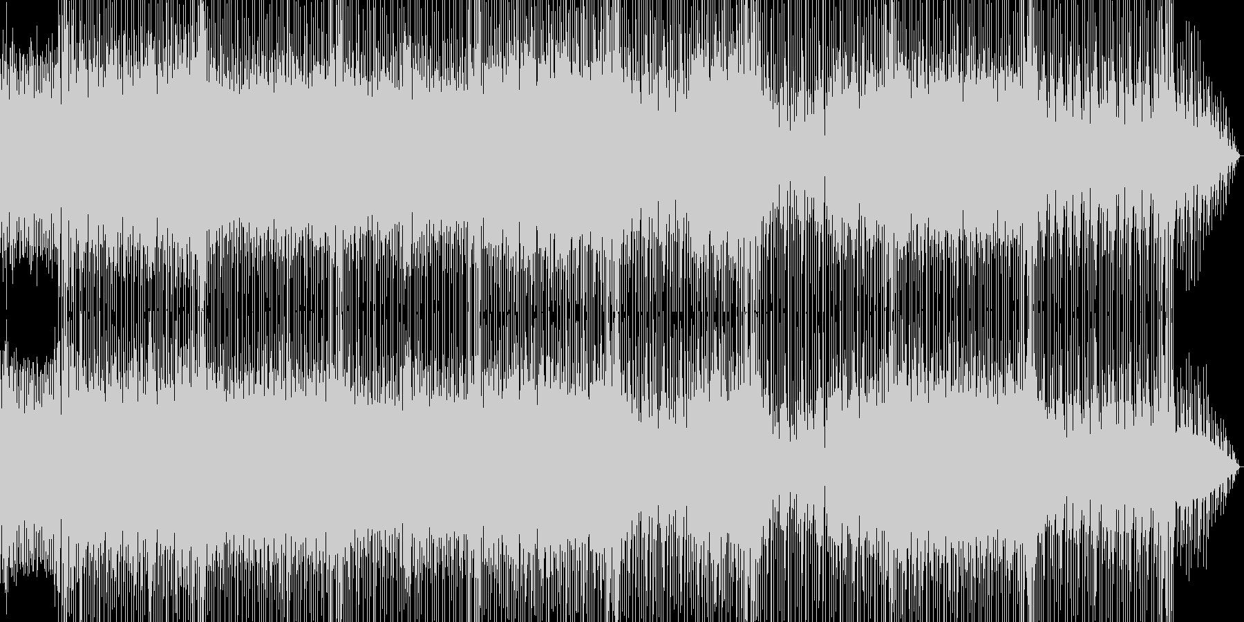 軽快なリズムが印象的なロックBGMの未再生の波形