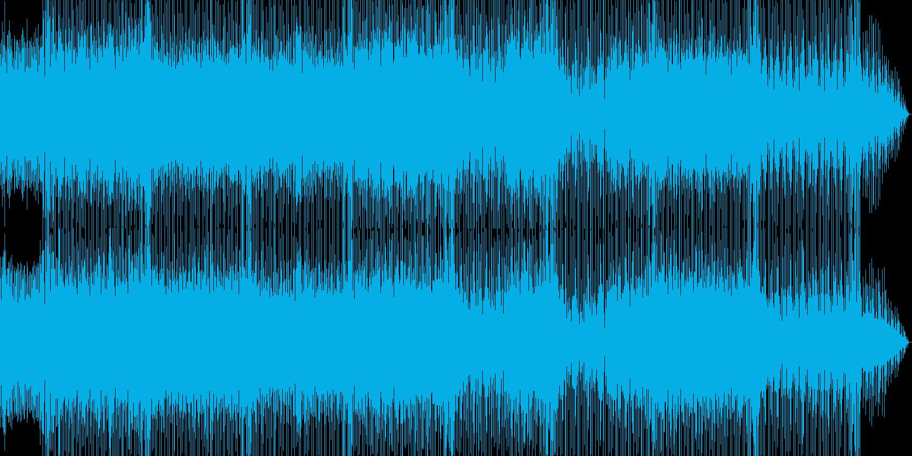 軽快なリズムが印象的なロックBGMの再生済みの波形