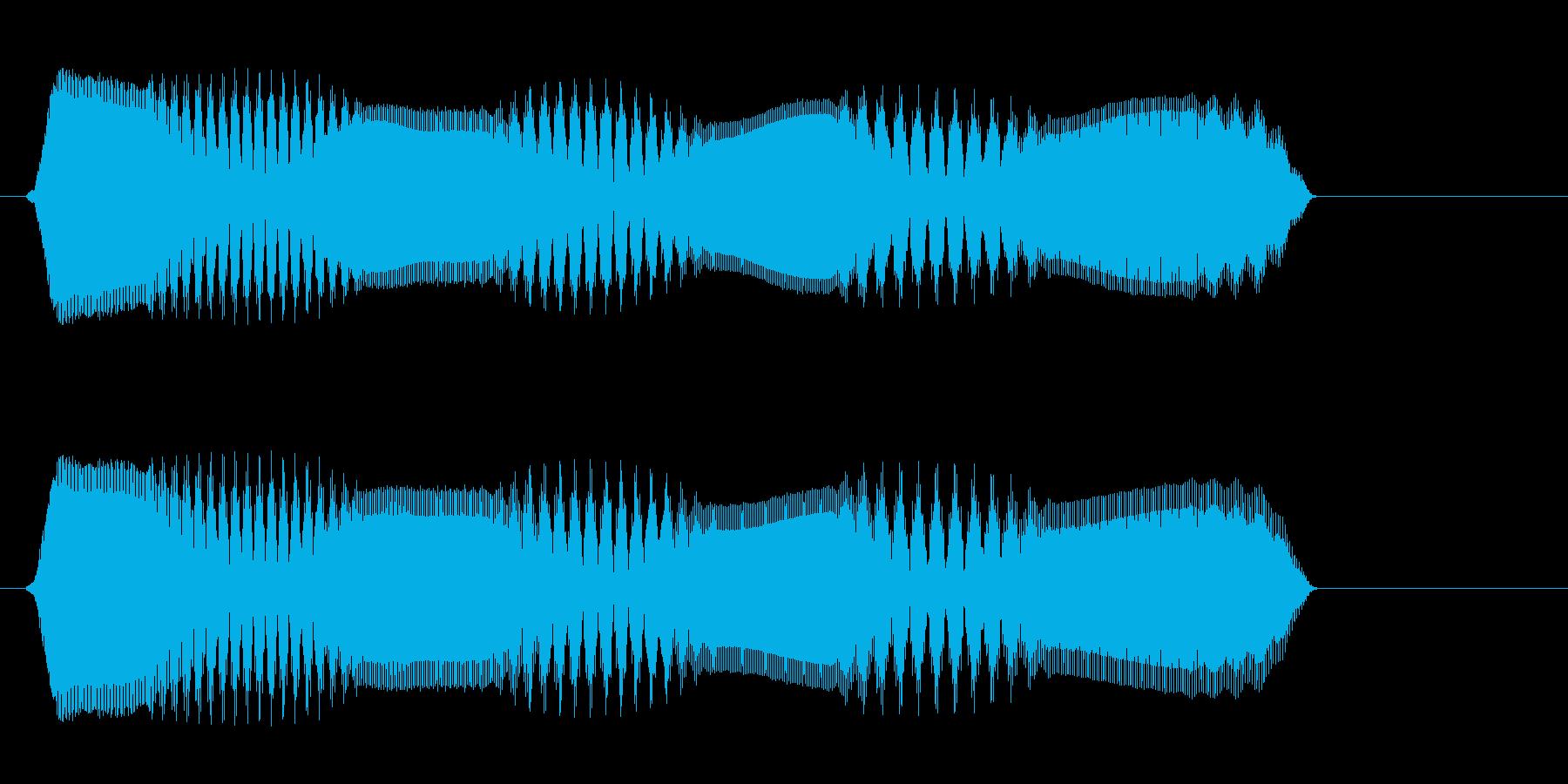 ピュロロ(高音 電子音)の再生済みの波形