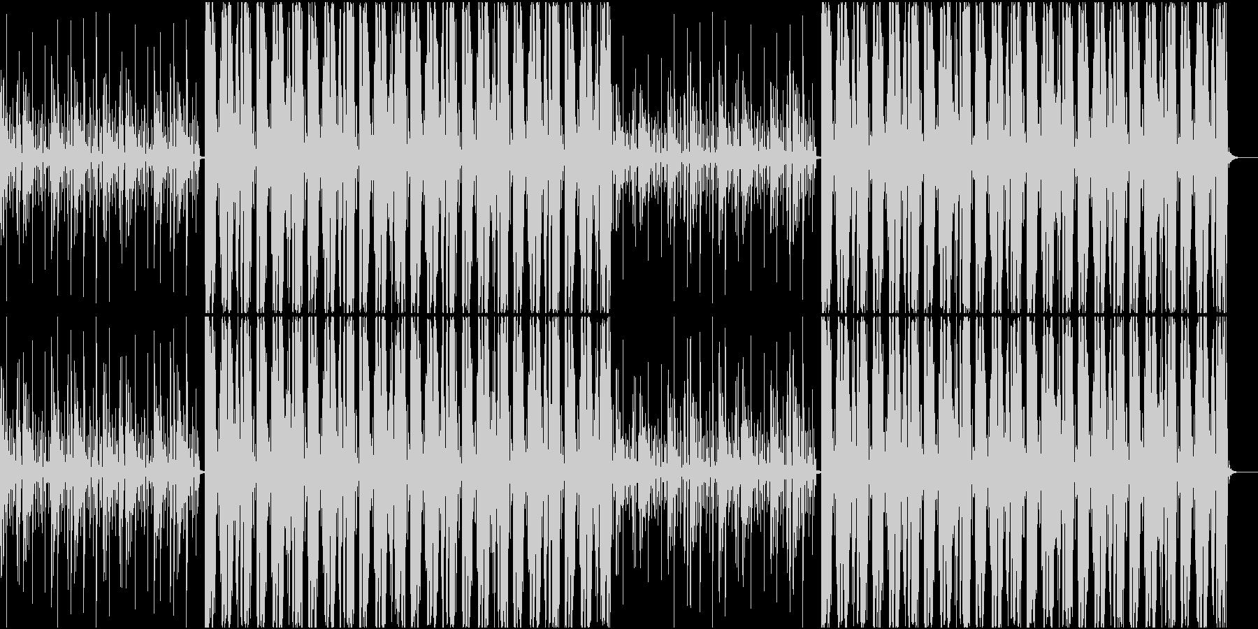 ビートの強いHiphopの未再生の波形