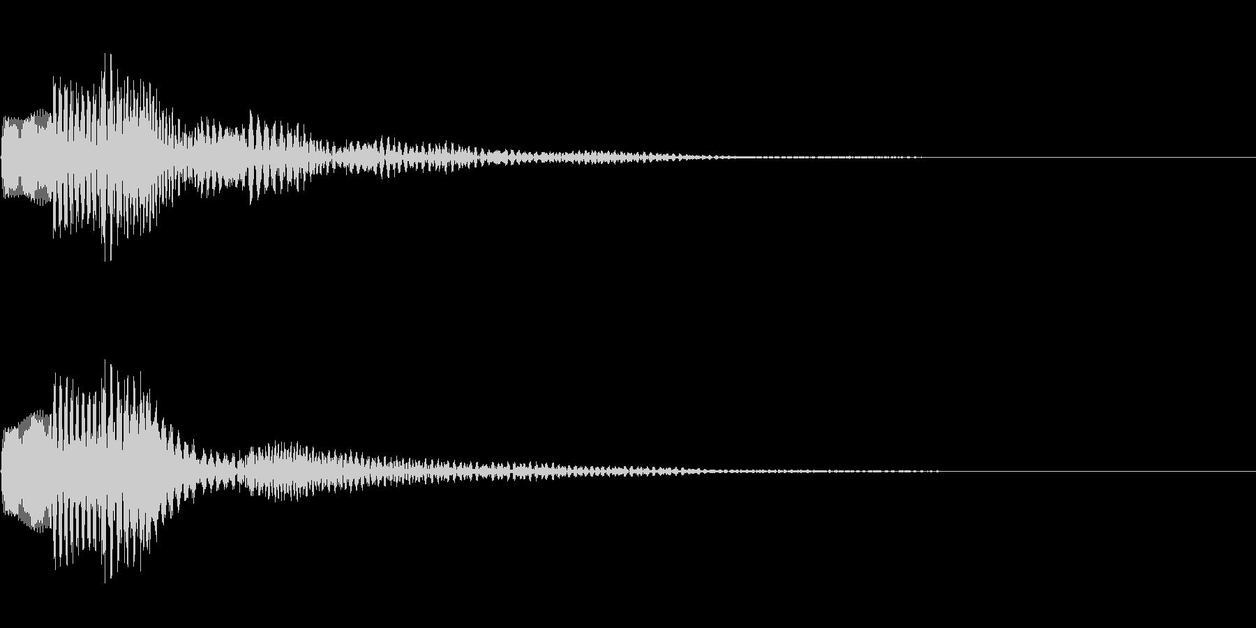 ぽろん(決定音・アラート)の未再生の波形