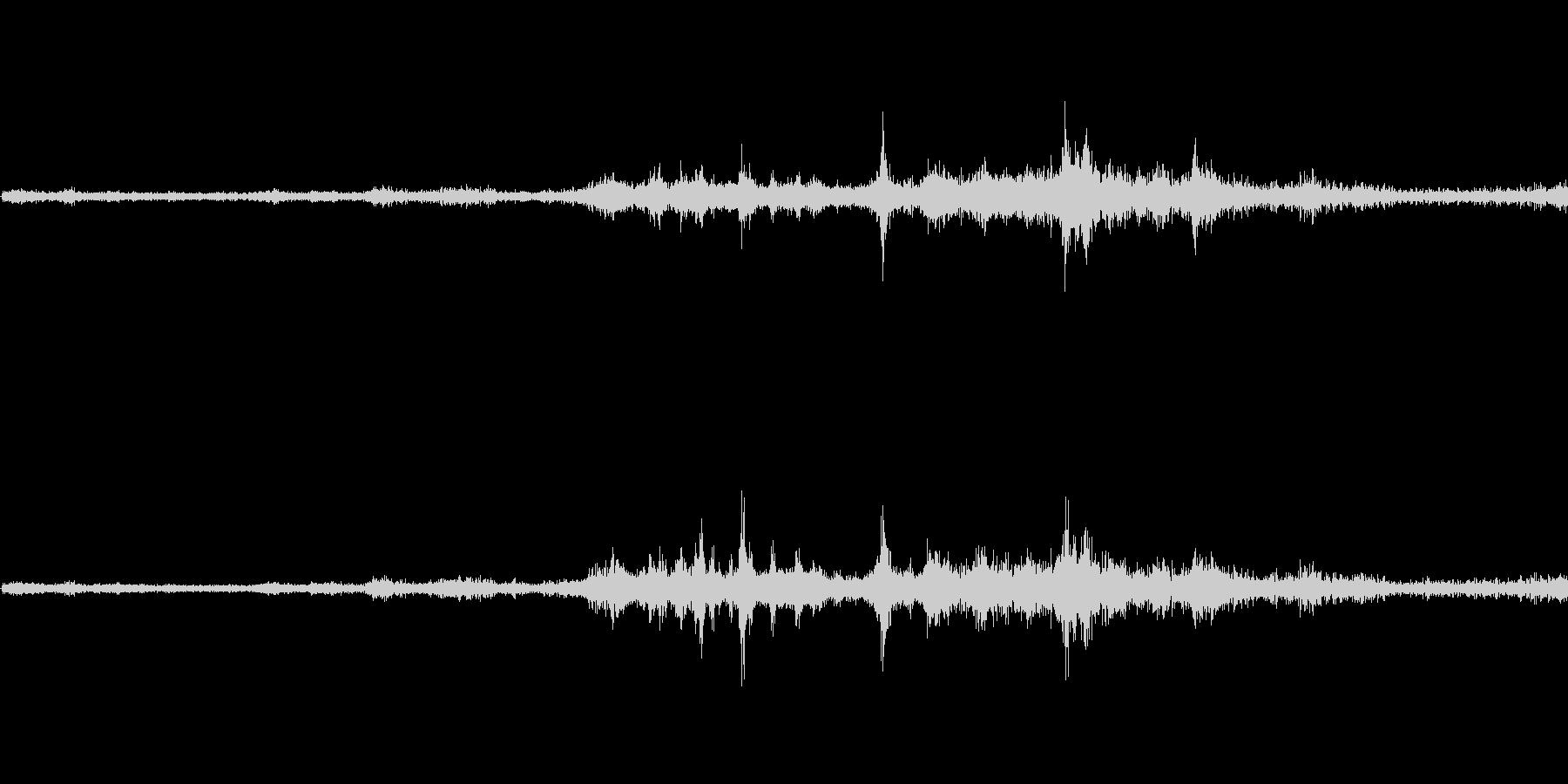 バイノーラル録音戦闘機5の未再生の波形