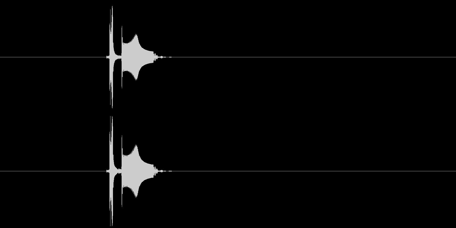 ピチョン(ボタン、決定音)の未再生の波形