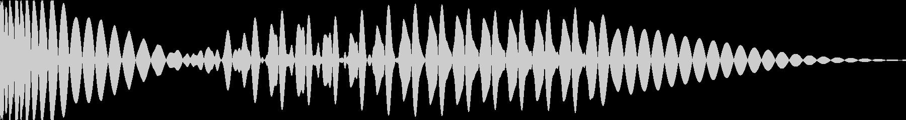 EDMキック キーG の未再生の波形