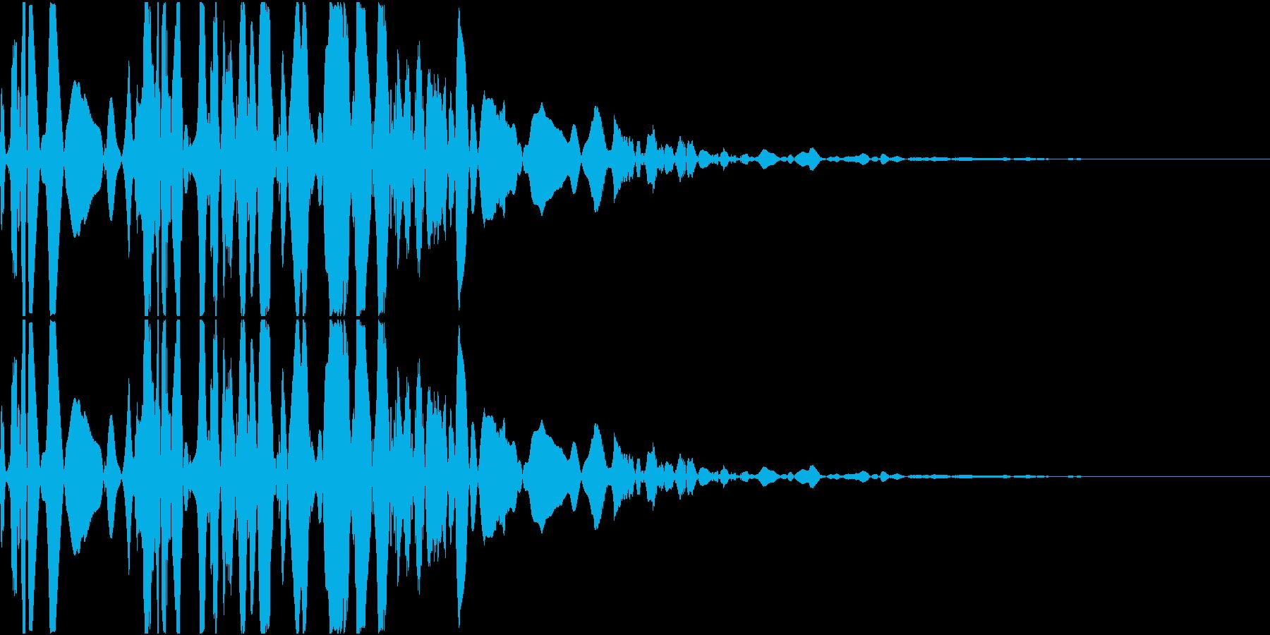 ベチャッ07(泥・液体系のアクション音)の再生済みの波形