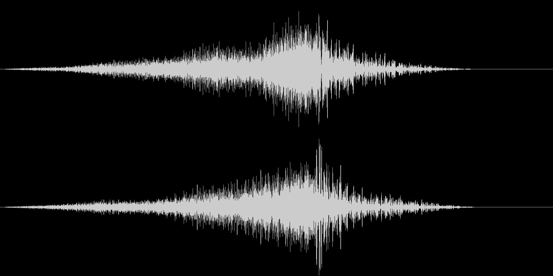上昇もしくは下降するイメージの未再生の波形