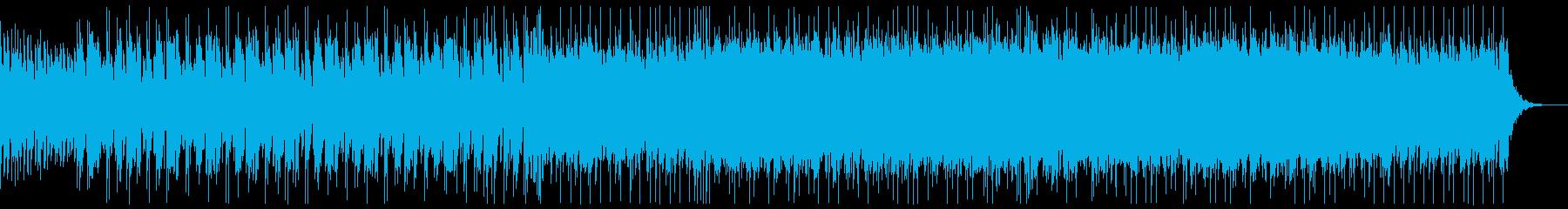 エレクトリックなBGMの再生済みの波形