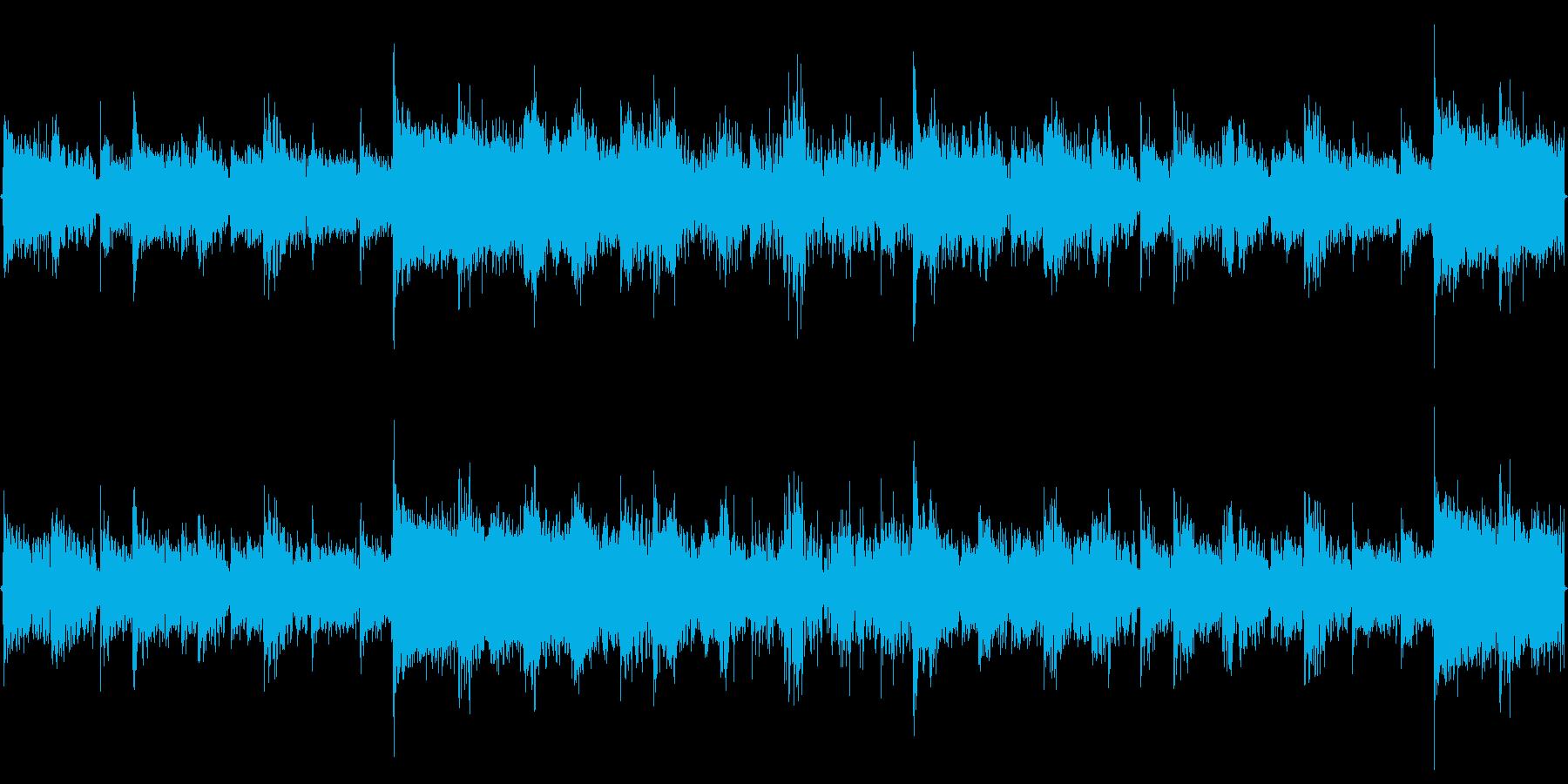 アミューズメント向けのループBGMの再生済みの波形