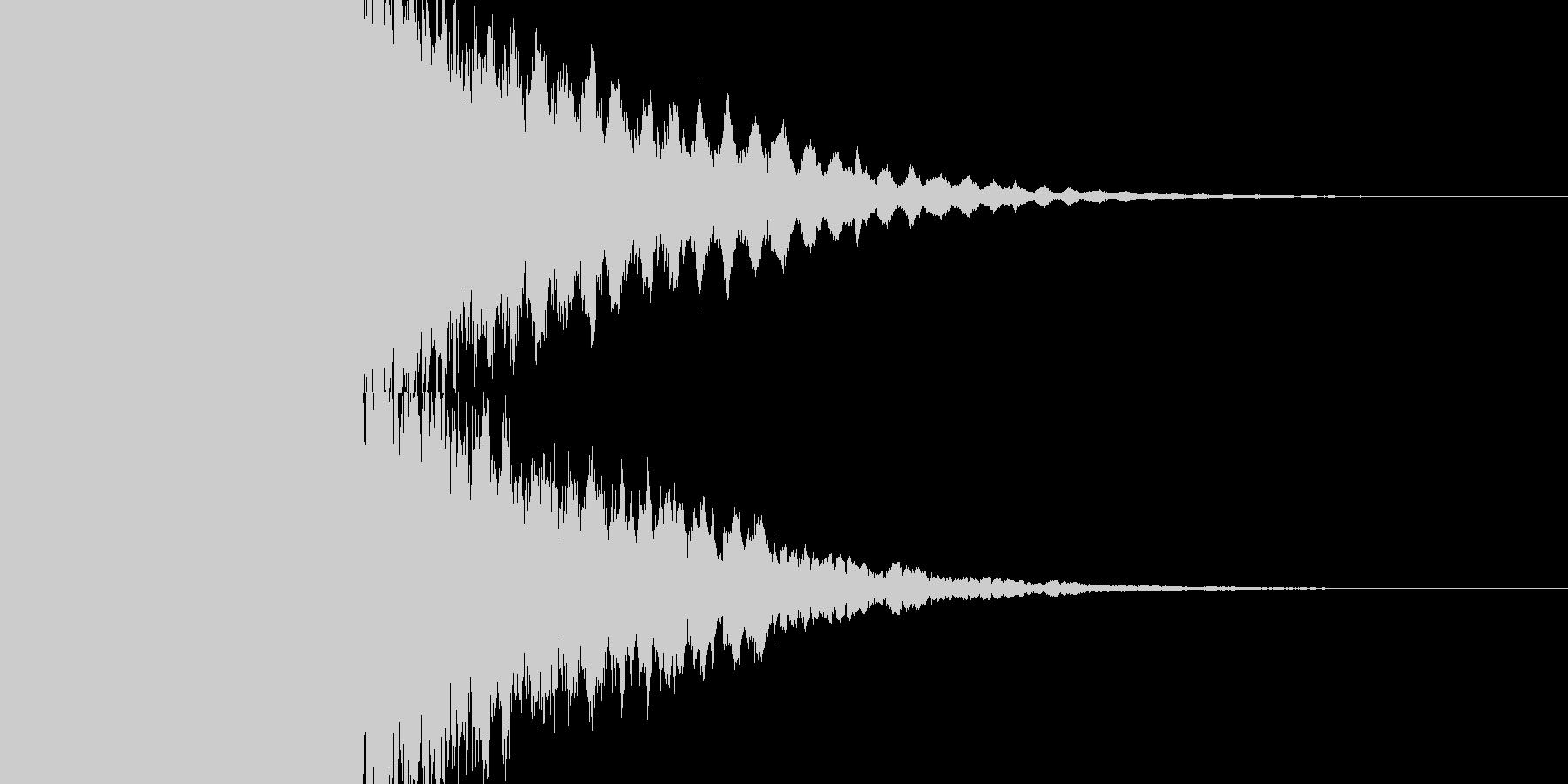 カキーン キラキラの未再生の波形