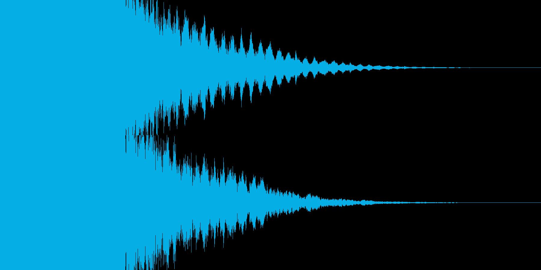 カキーン キラキラの再生済みの波形