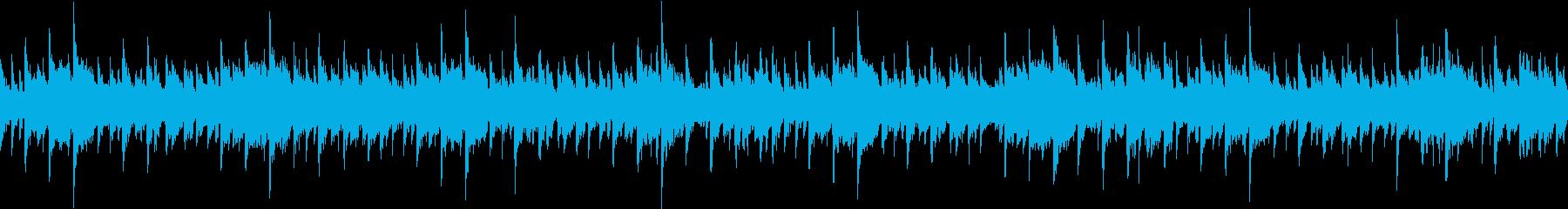 可愛い声のコーラスでゆったりとした曲の再生済みの波形
