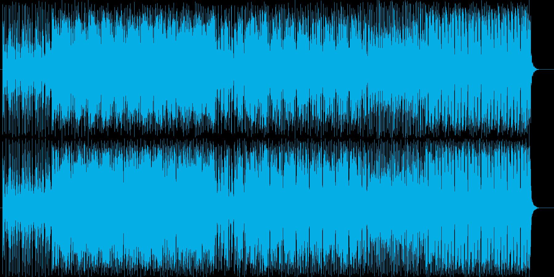 ブラスがメインの明るくノリの良い曲の再生済みの波形