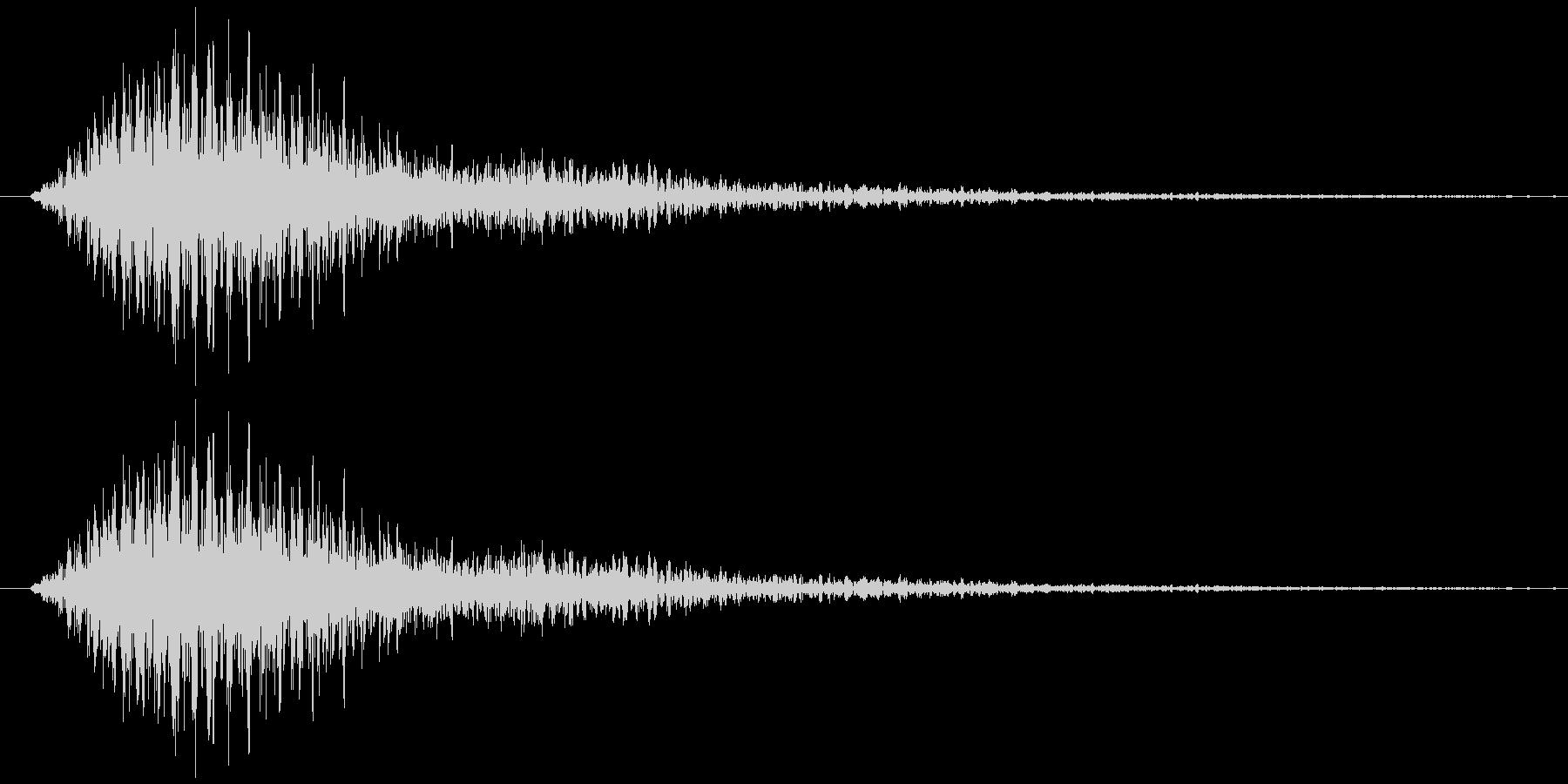 フワワー(サウンドロゴ)の未再生の波形