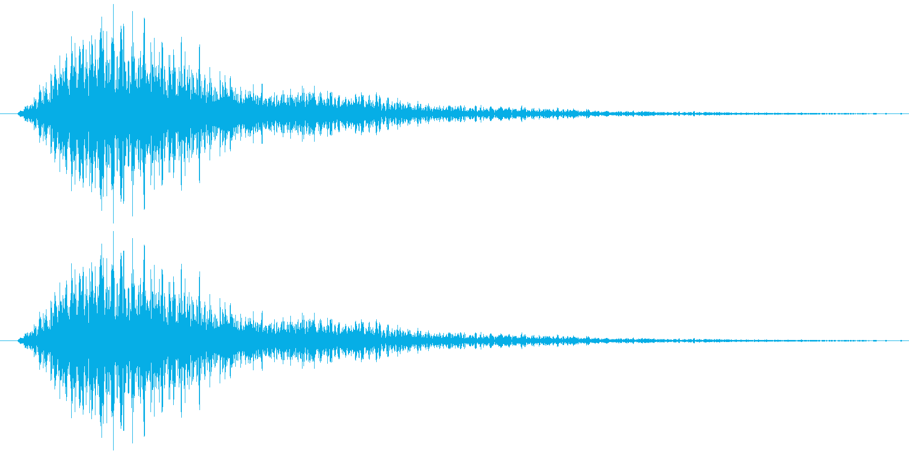フワワー(サウンドロゴ)の再生済みの波形