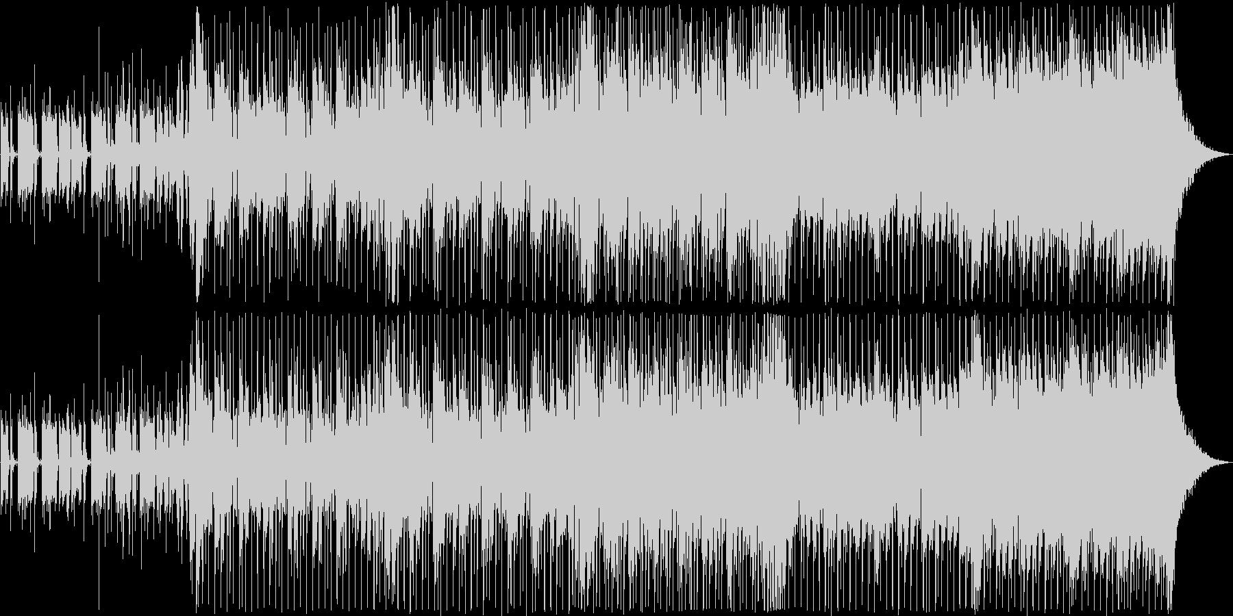 映像に合う四つ打ちテクノポップの未再生の波形