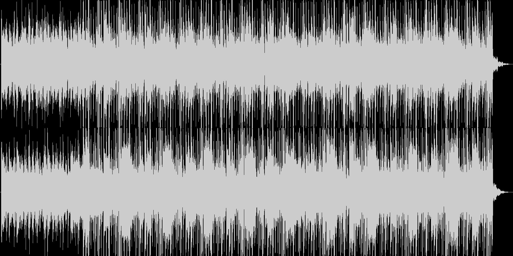 未来的な音したエレクトロビートの未再生の波形