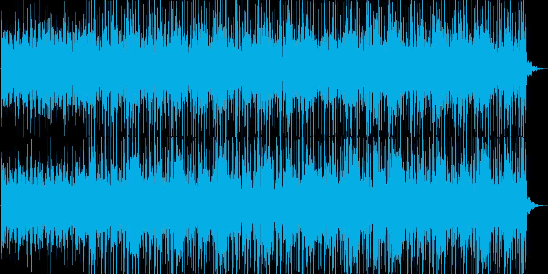 未来的な音したエレクトロビートの再生済みの波形