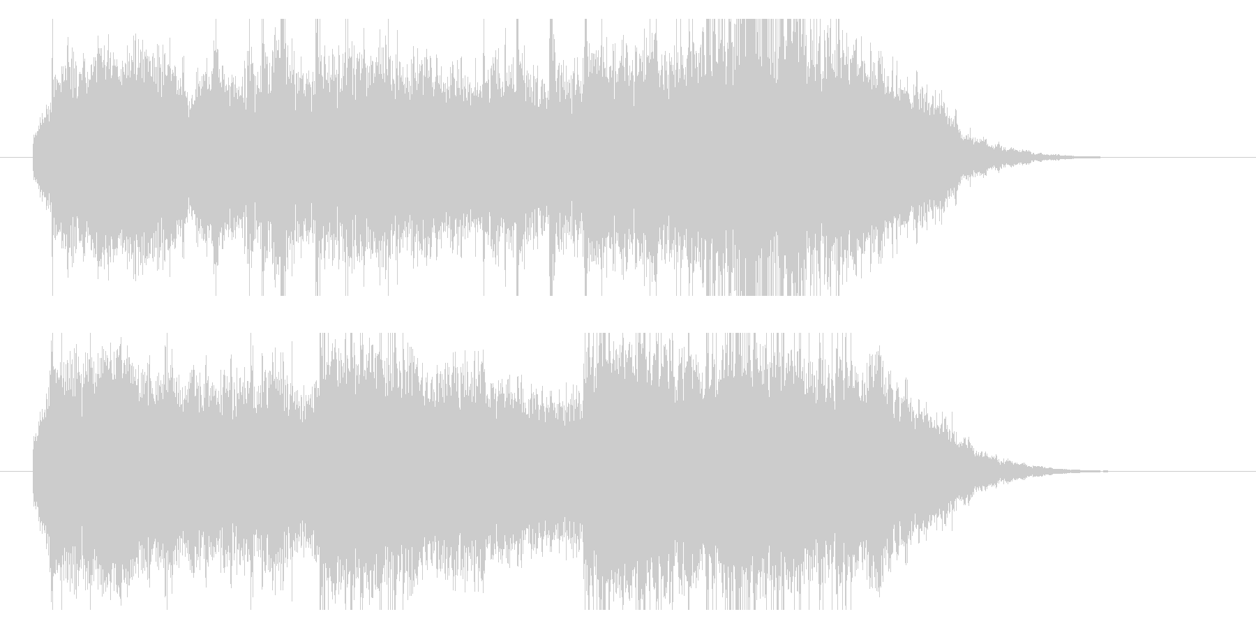 オーケストレーションのサウンドロゴですの未再生の波形