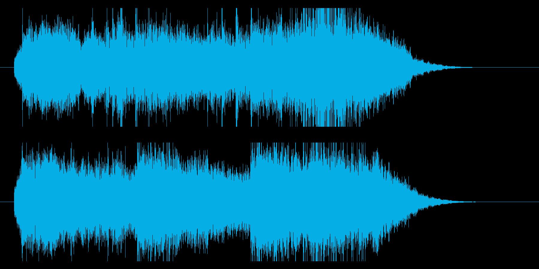 オーケストレーションのサウンドロゴですの再生済みの波形