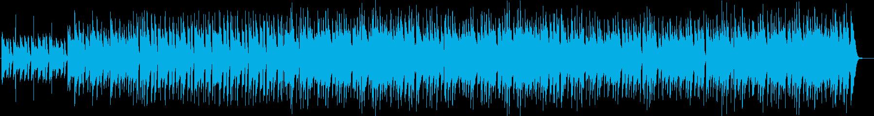 ラフなノリでアンニュイなメロディーの曲の再生済みの波形