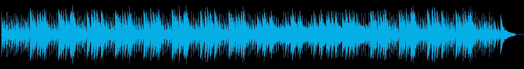 明るく優しいシンセサイザーサウンドの再生済みの波形
