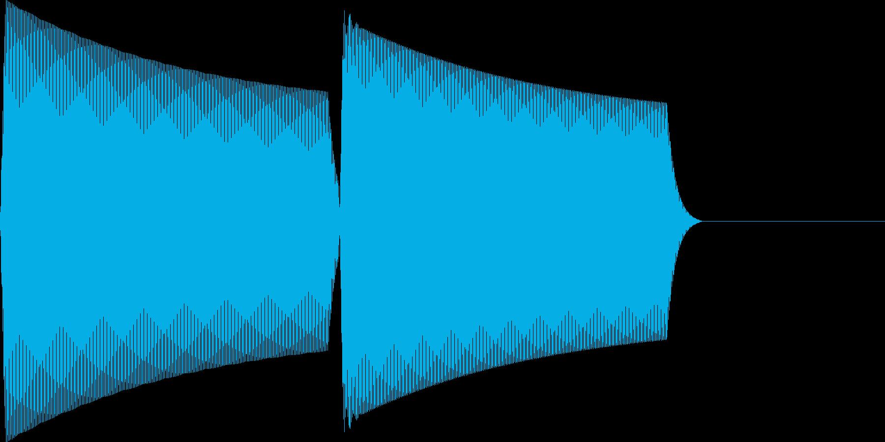 ピコ(click_001_決定)の再生済みの波形