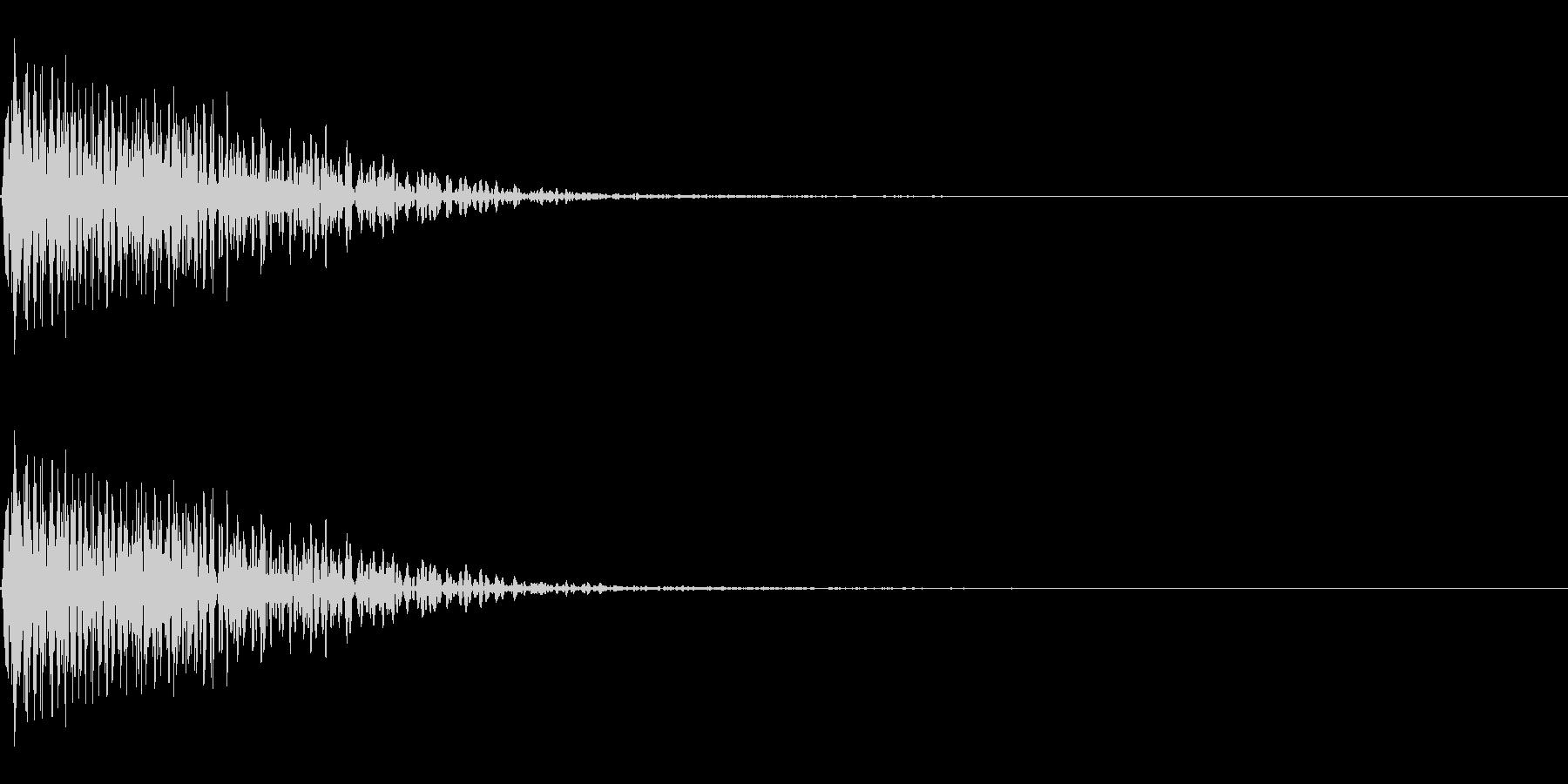 パワーダウン下降音 ドゥーンの未再生の波形